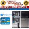 Dell OptiPlex 990 MT Intel i7 8GB RAM 1TB HDD Win 10 USB VGA LAN B Grade Desktop