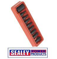 """Sealey Impact TRX-Star Bit & Holder Set 9pc 1/2""""Sq Drive ak5610"""