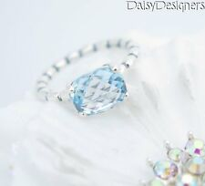 NEW Authentic PANDORA Sterling Silver COOL BREEZE Blue Topaz RING 58 8.5 RETIRED