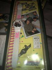 Nkotb New Kids On The Block White Flip Top Picture Cover Watch Mint In Package