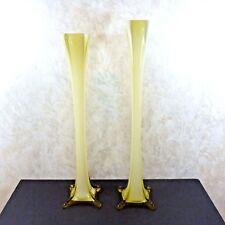 "Set of 2 Art Glass Vases 60s Mid Century Modern Pauls Italy 433/3617 28"" & 30"""