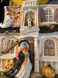 Fitz & Floyd 2003 Halloween HARVEST HOOTY HAUNTED HOUSE No Cover Cookie Jar