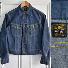 Vtg 60s LEE RIDERS 109-JY Sanforized Denim Jerky Tag Trucker Jacket Boys Kids M