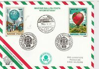 hungary 1983 balloon stamps cover ref 20901
