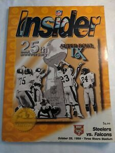 Vintage NFL 1999 STEELERS Vs FALCONS Program 25th Anniversary Super Bowl IX
