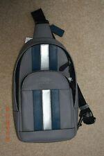 NEW Coach Mens (F83270)  Messenger Varsity Stripe Sling Pack Bag