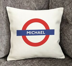 Personalised London Underground Cushion Cover - London - Home furnishings