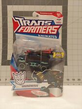 TRANSFORMERS ANIMATED Deluxe Deception Soundwave MOSC