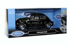VW VOLKSWAGEN BEETLE DIE CAST MODEL 1/24 BLACK BY WELLY 22436