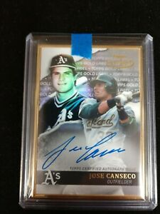 2020 Topps Gold Label, JOSE CANSECO, GOLD FRAME AUTOGRAPH, A'S