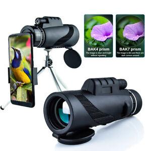 Monocular tripod night vision 80x100 phone adapter Zoom Telescope Portable