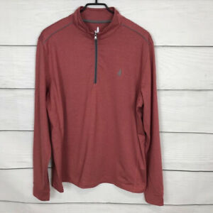 Johnnie-O Cranberry Red Lammie Pullover 1/2 Zip Size Large L Long Sleeve Shirt