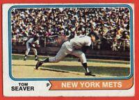 1974 Topps #80 Tom Seaver LOW GRADE CREASE HOF New York Mets FREE SHIPPING