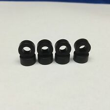 Aurora Afx rear slot car tires 4 Pair - Black Hq silicone - standard size stock