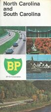 1969 BP OIL Road Map NORTH & SOUTH CAROLINA Charlotte Charleston Winston-Salem