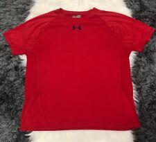 Under Armour Heat Gear Men's Short Sleeve Red/Black Sz Xl Crew Neck Shirt H