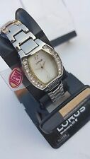 =>>> NEW LORUS WOMEN'S SILVER TONE  WITH CRYSTALS WATCH <<<=