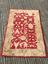 """PRELOVED RUST / CREAM TRADITIONAL STYLE AREA RUG / CARPET  49"""" X 72"""""""