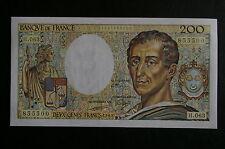 Billet de 200 Francs Montesquieu type 1981 de 1989 /  NEUF