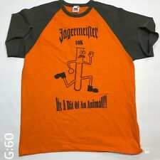 "Jagermeister 10K Circuit Orange Mens T Shirt Size L P-P 21"" Length 26"""