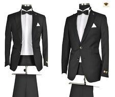 96a5ba2dbbcb  905  Hochzeitsanzug 4teiliger Designer Herrenanzug edler Anzug in Schwarz  Gr.52