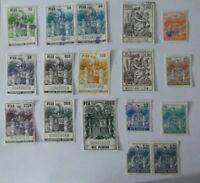 Lote de 16 sellos timbre pesetas españa varios valores,usados selectos
