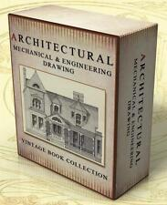 ARCHITECTURAL MECHANICAL ENGINEERING DRAWING 125 Vintage Books + Images on DVD