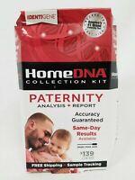 IdentiGene HomeDNA Paternity Test Collection Kit Report $139 Lab Fee Damaged Box