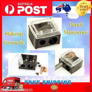 Precision Makeup Cosmetic Pencil Sharpener Eyebrow Lip Liner Eyeliner 2 Holes *