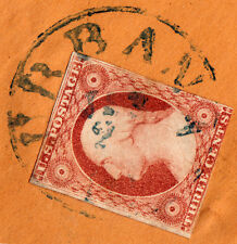 """#11A - 3 Cent 1851-57 12L5L Green """"URABANA/JAN/2x/IL"""" CDS - Nicholasville KY '56"""