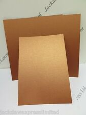 20 x A4 2-Sided Copper Pearlescent Shimmer Card 300gsm AM375