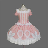 Maid Wear Punk Gothic Lolita Ruffled Bows Dress Cosplay Halloween Custom Made