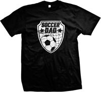 Soccer Dad Ball Goal Daddy Papa Sports Father's Day Mens T-shirt