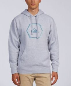 Quiksilver Men's Swell Symmetry Pullover Hoodie, Gray, Size L, NwoT