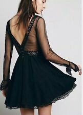 Free People Victorian Lace Dress Large Size 10 12