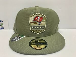 TAMPA BAY BUCCANEERS NEW ERA FITTED SALUTE TO SERVICE HAT SIZE 7 1/2