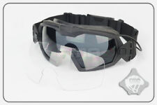 Black Paintball Airsoft Tactical Goggle Glasses Goggles with Fan & 1 Clear Lens