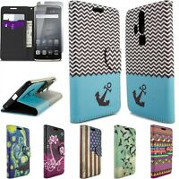 For ZTE Axon Pro Case - Design Flip Wallet Pouch Card Cover + Screen Protector