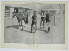 Frederic Remington Collier's National Magazine Illustration Cowboy Western 1909