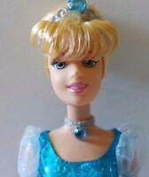 "Disney Princess Cinderella Sparkling Princess Dress 11"" Barbie Doll By Mattel"