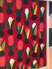 Marimekko Curtain Tablecloth Aino-Maija Metsola Lucia Red Flower 2012