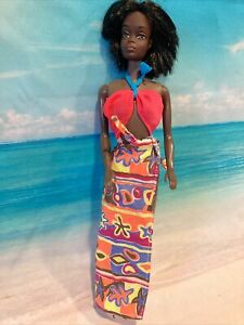 Vintage Mod Style Barbie doll Beach Fashion Clothing Outfit - 2 Pc - 1979  ☀️