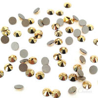 1440 Swarovski 2058 flatback rhinestones nail art gold ss5 CRYSTAL AURUM 001 AUR