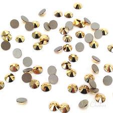 144 Swarovski 2058 flatbacks rhinestones nail art gold ss5 CRYSTAL AURUM 001 AUR