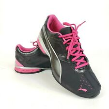 PUMA Tazon 6 FM Women's Running Shoe Size 10 Black and Pink Athletic Sneakers