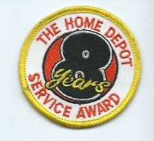 The Home Depot 8 year Award employee/driver patch 2-1/2 dia
