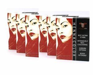 6 x EstherTol Henna-Pulver Auburn Rot Extra Stark a 85g