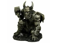 THUNDER OF THOR 19cm Nemesis Now Norse God Viking Bronzed Figurine BNIB FREE P+P