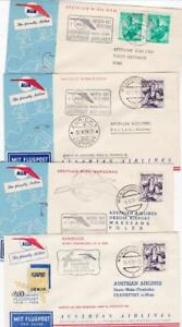 AUSTRIAN AIRLINES FF COVERS 22 DIFFERENT 1958-71  ILLUSTRATED RANGE  DESTINATION