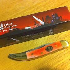 Frost Steel Warrior Dark Red Smooth Bone Texas Toothpick Pocket Knife Fsw109Drsb